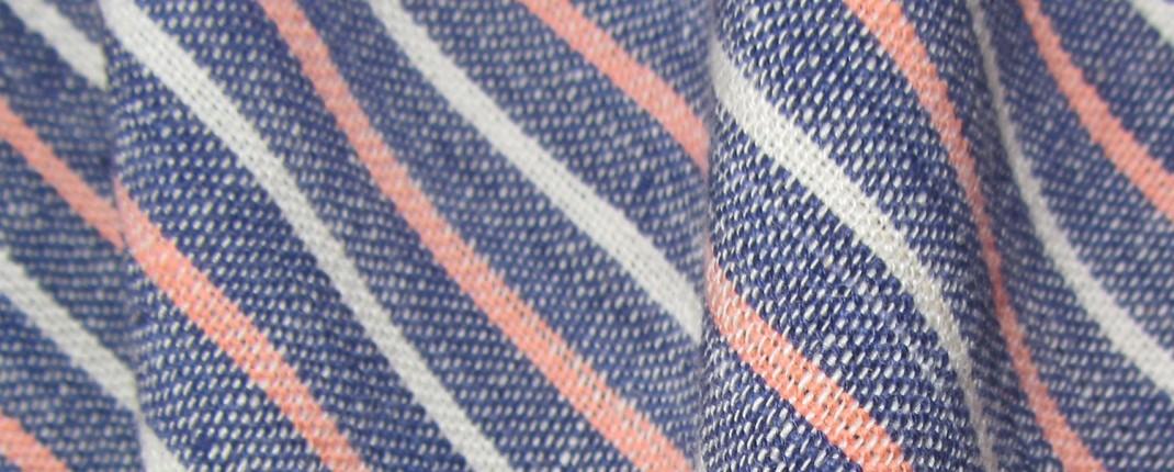 Organic Striped Fabric