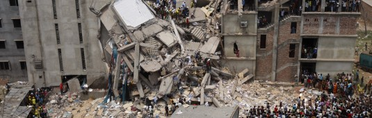 Building collapse aftermath