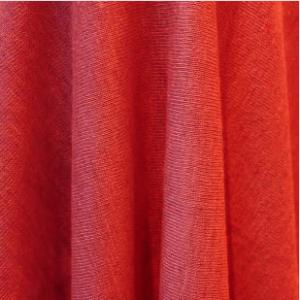 Red Natural Linen Jersey