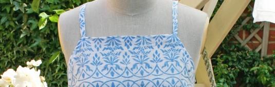 Sewing Dress Made of Muslin